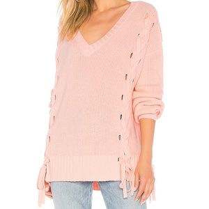 NWT Lovers + Friends Darcy Light Pink Sweater